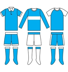 Different football soccer uniforms vector