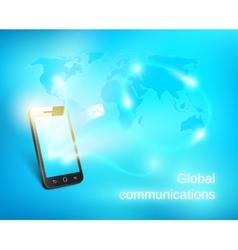 Smart phone sending out message vector