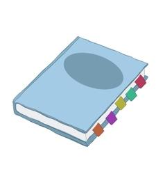Blue notebook cartoon vector