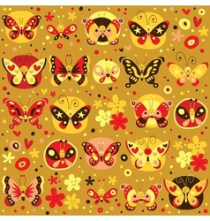 Butterflies pattern 4 vector