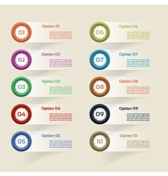 Chart with ten steps vector