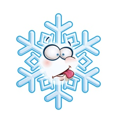 Snowflake head tongue vector