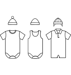 Set of child baby wear vector