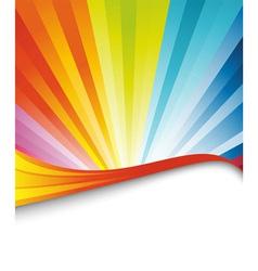 Rainbow birthday banner vector