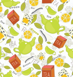 Tea pattern vector
