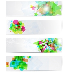 Abstract modern website banner set vector