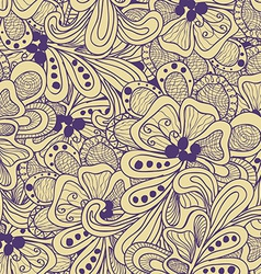 Abstract seamless pattern with yellow and purple vector