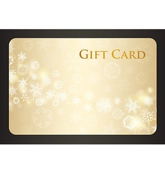 Exclusive cream christmas gift card with stream of vector