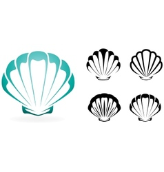 Shell collection - silhouette vector