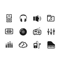 Several music themed icons vector