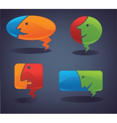 Chat and talk collection of speech bubbles vector