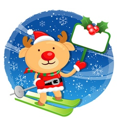 Rudolph mascot the event activity christmas vector