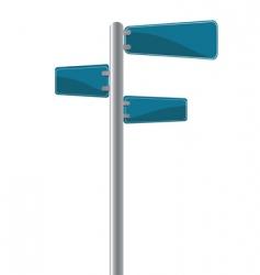 Cross street sign vector