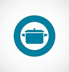 Pot icon bold blue circle border vector