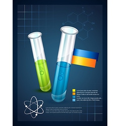 Creative inographic template of test tube vector