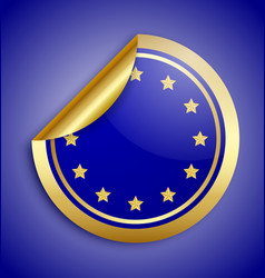 Europe union sticker vector