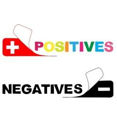Positive negative vector