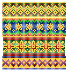 Set of old russian patterns vector