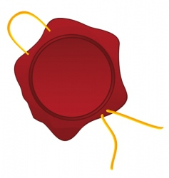 Wax seal with a rope vector