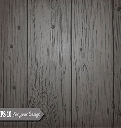 Gray wooden background for your design vector