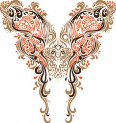 Collar butterfly design vector