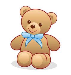 Simple teddy bear vector