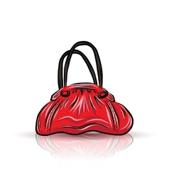 Red sad bag vector