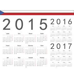 Czech square calendars 2015 2016 2017 vector
