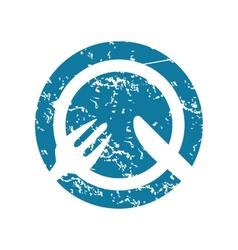 Grunge tableware icon vector