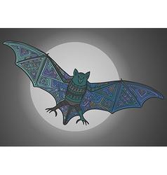 Ornamental bat vector