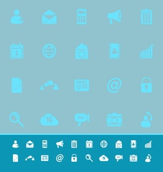 Mobile phone color icons on blue background vector