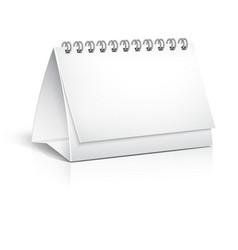 Blank spiral desktop calendar vector