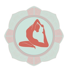Woman yoga vector
