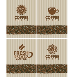 Coffee collection vector