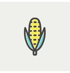 Corn thin line icon vector