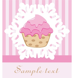 Retro cupcake vector