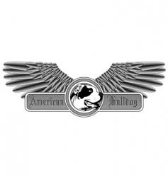 American bulldog logo vector