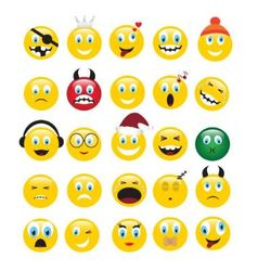 Yellow emotions vector