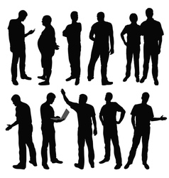 Group of men vector