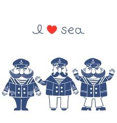 Sea captain vector