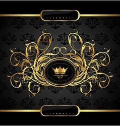 Gold vintage for design packing - vector