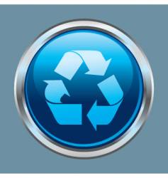 Recycle button icon vector