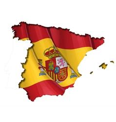 Spanish map flag vector