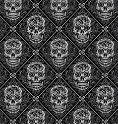 Day of the dead seamless pattern vector