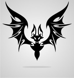 Bat tattoo vector