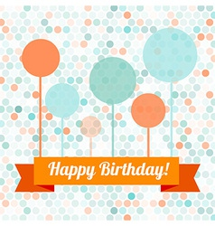 Greeting card or invitation with spots pattern vector