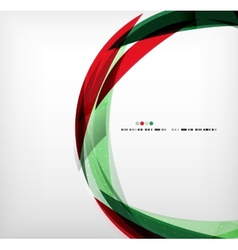 Red green ring - business abstract bubble vector