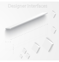 3d plan and board design interface vector