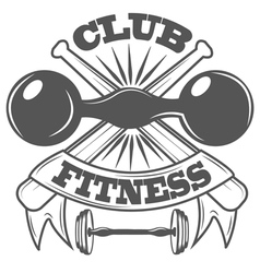 Fitness club sport logo and pictures vector