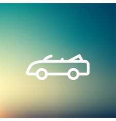 Convertible car thin line icon vector